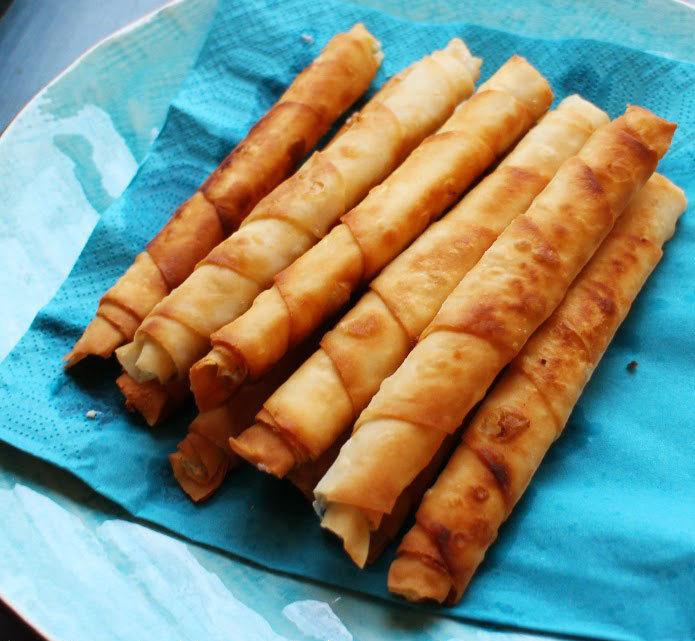 Мини-пирожки из лаваша. Очень быстро и вкусно!