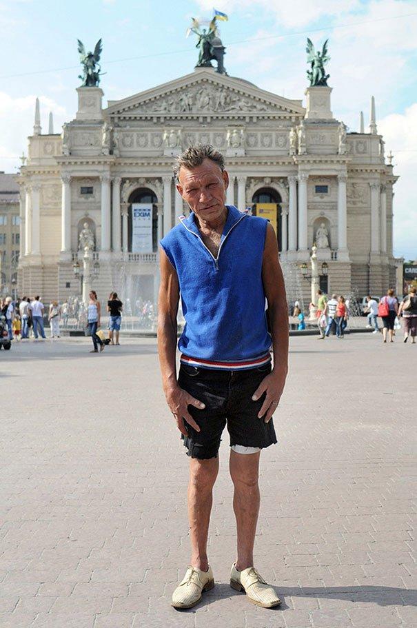 55 летний львовский бомж самый модный бездомный в мире (11)