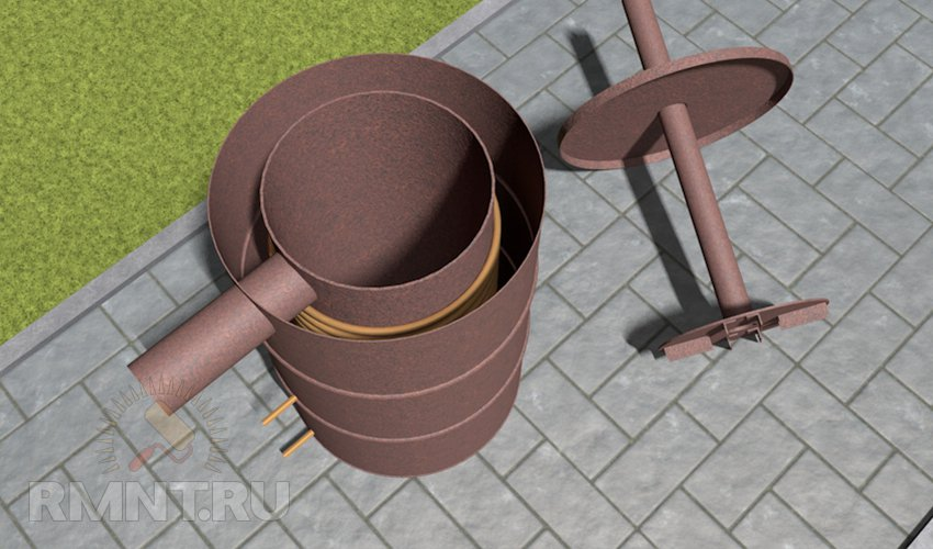 Водяной контур на трубу