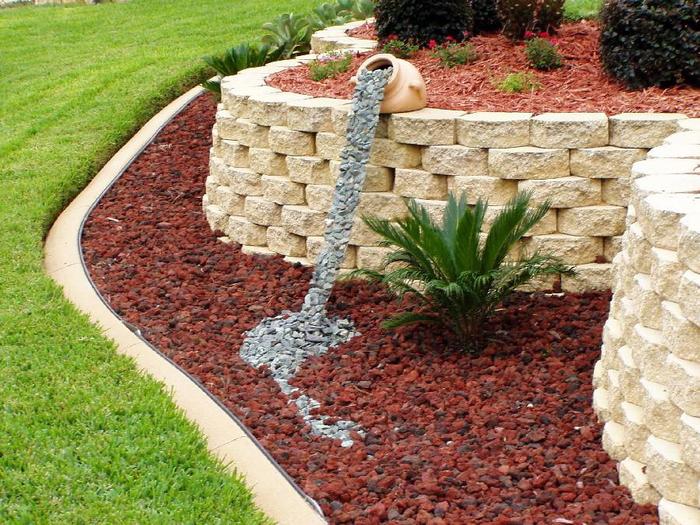 Фото как украсить сад своими руками
