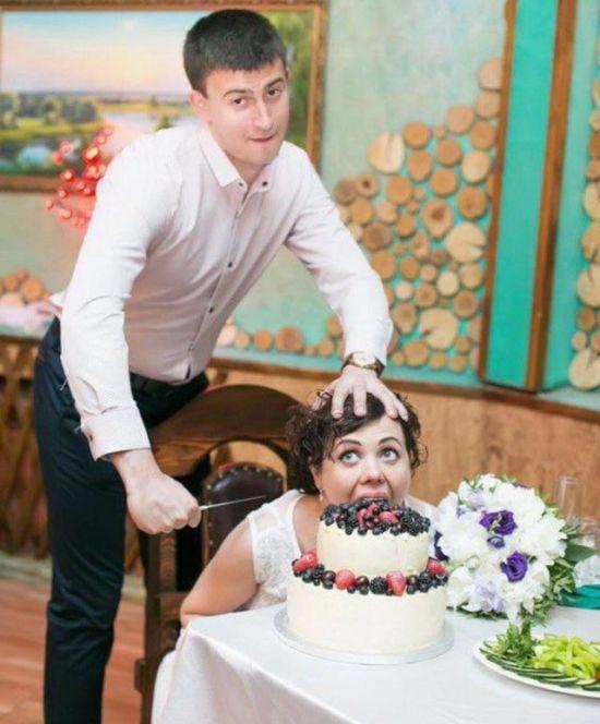 Странные свадебные фотографи…
