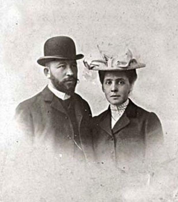 Вера Мамонтова с мужем, Александром Самариным, 1903 г.
