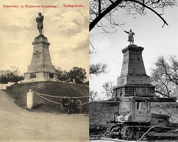 Хабаровск. Памятник Н.Н.Муравьёву-Амурскому, открыт в 1891 году, скульптор А.М.Опекушин.