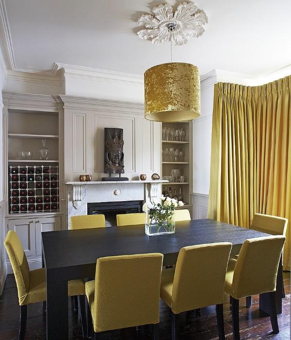 Кухня горчичного цвета дизайн