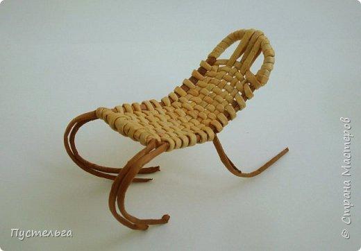Кукольная жизнь Плетение Кресло-качалка Трубочки бумажные фото 6