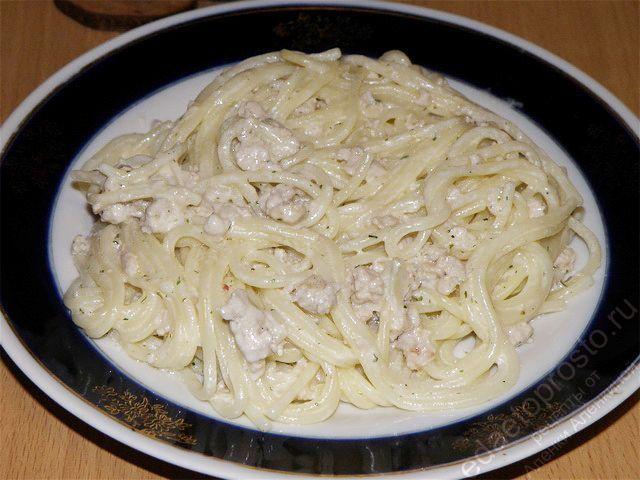 Макароны с плавленным сыром рецепт с фото
