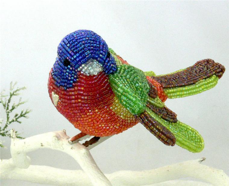 Как сделать из бисера птицы