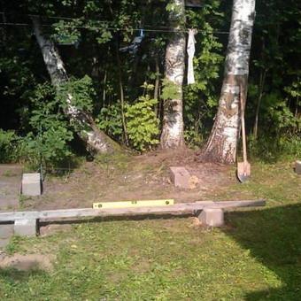 Как построить дровяник на даче