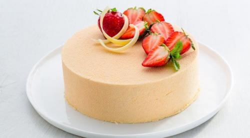 Торт клубника — базилик — ваниль.
