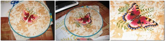 Роспись канвы для вышивки крестом