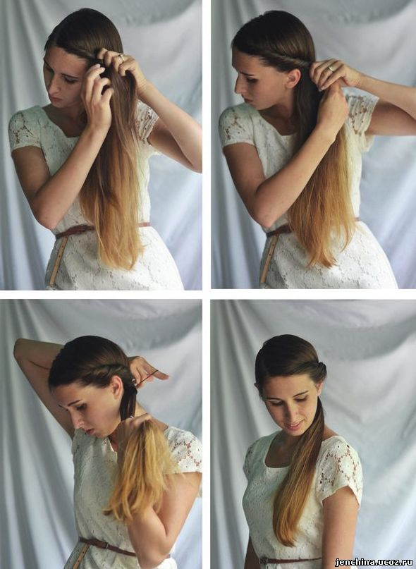 Прическа по быстрому своими руками на длинные волосы