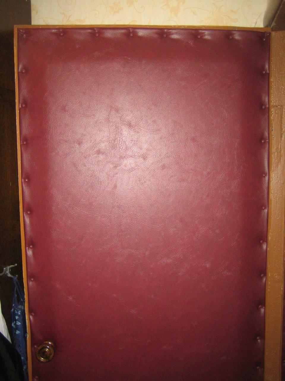 Обшивка двери дермантином своими руками