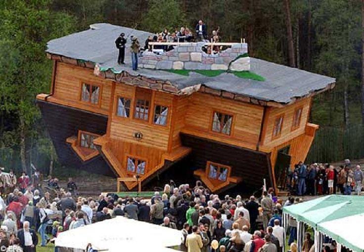 2. Перевернутый дом в Польше дом, идея, проект