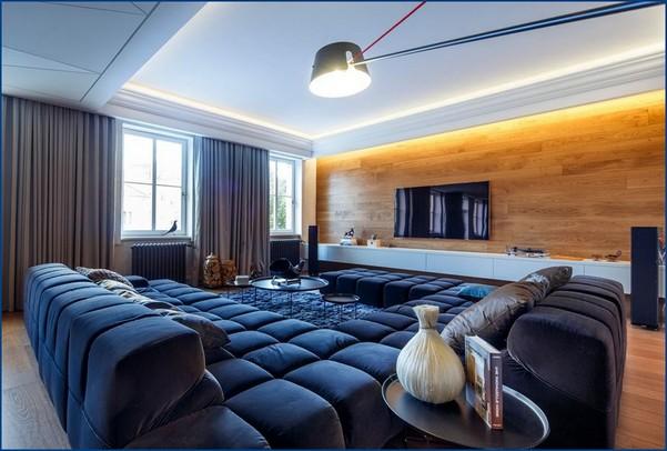Сложная мужская квартира с вневременным дизайном