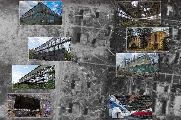 Руины авиационной академии, …