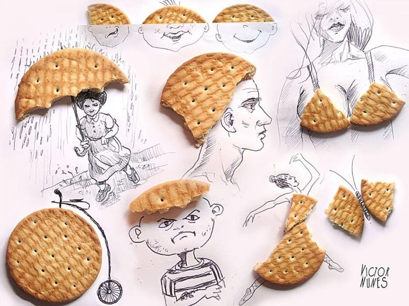 Виктор Нунес - Рисунки из печенья