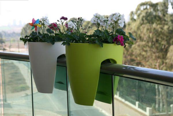 Полипропиленовые вазоны для цветов с внутренней дренажной системой