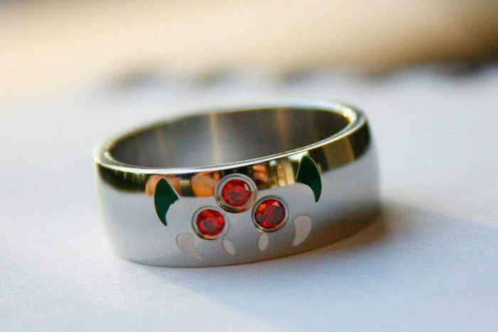 Кольцо с крылышками диза, кольцо, креатив