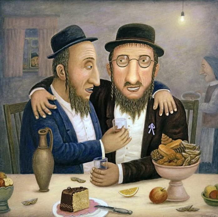 У кого из этих двух евреев ж…