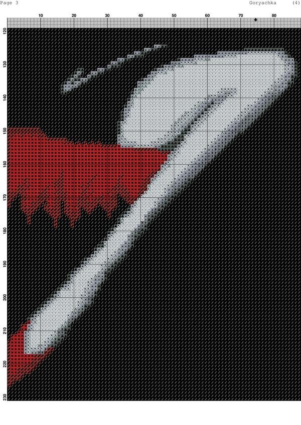 Схема вышивки женщина в красной шляпе 26
