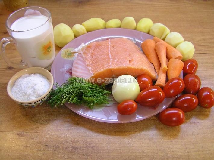 Сливочный суп с сёмгой - видео рецепт