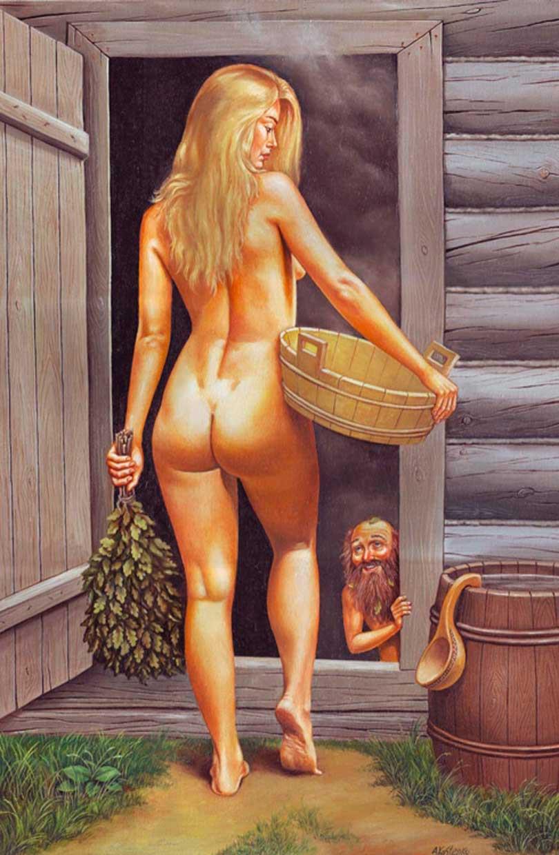 Фотографии русских девушек в бане — 14