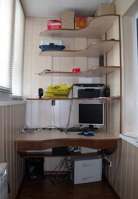 Компьютерный стол своими руками на балкон