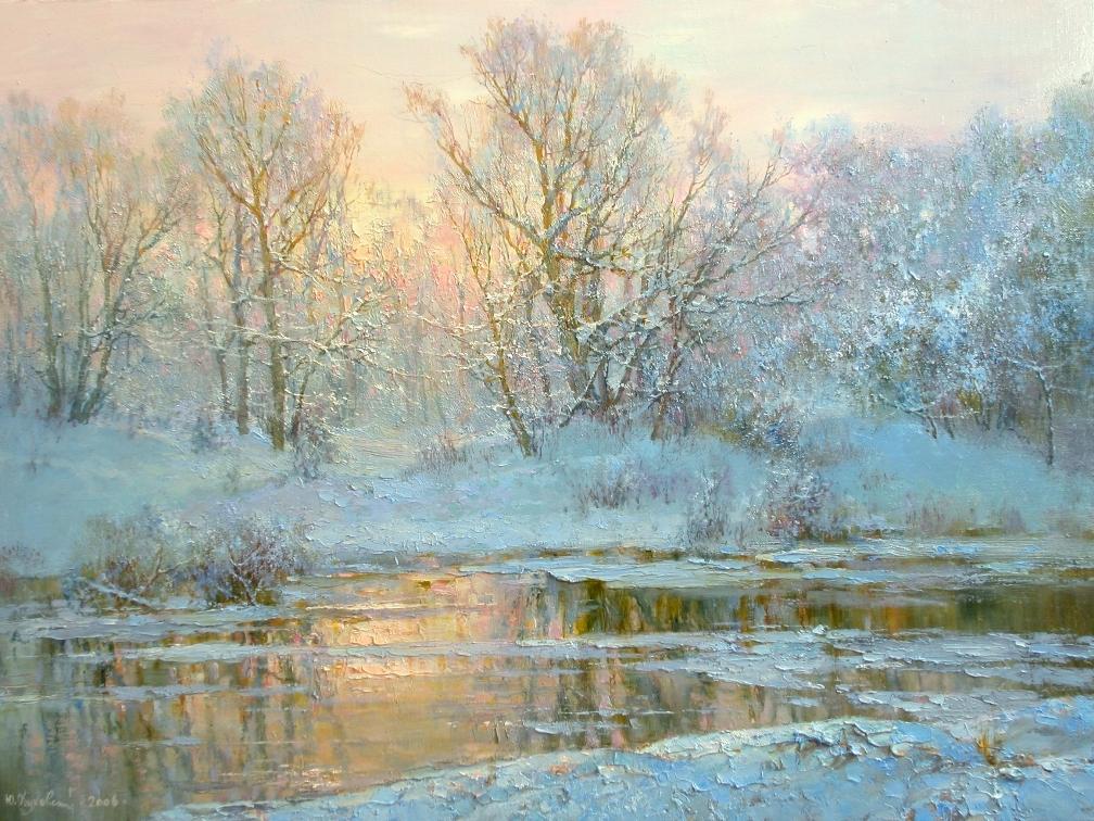 Зима в творчестве художника Юрия Обуховского