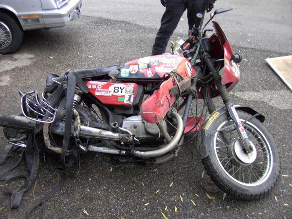 мотоцикл«Jawa-350» после аварии