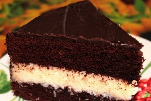 Торт «Баунти» с нежным манны…