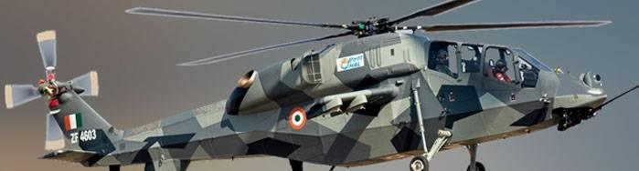 Индия испытывает лёгкий ударный вертолёт (LCH)  в условиях пустыни