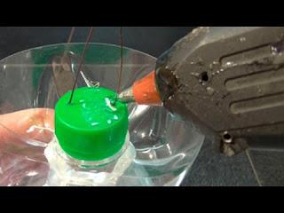 плазменный светильник из пластиковой бутылки