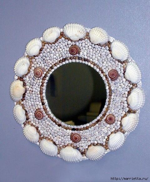 Красота из ракушек для интерьера ванной комнаты 21040