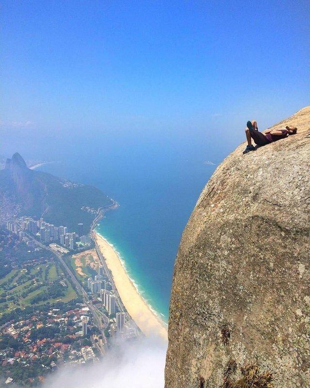 18. Отличное место, чтобы насладиться прекрасным видом на Рио-де-Жанейро в мире, высота, кадр, красота, люди, фото