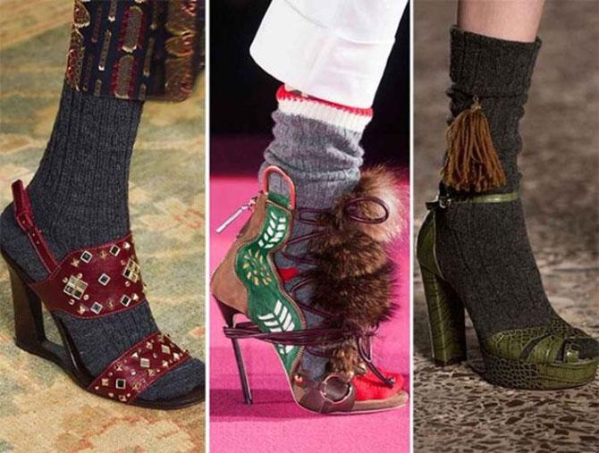 Носки под босоножки – теперь можно: 7 обувных трендов этой осени