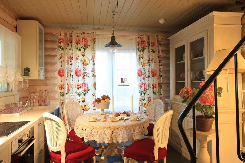 Интерьер кухни на даче на фото