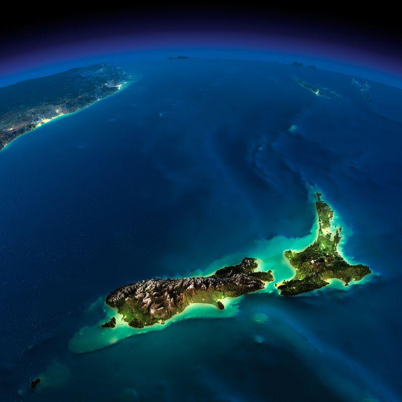 Ночная Земля без облаков земля, фото