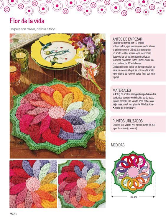 Carpeta con relieve - Deco Crochet