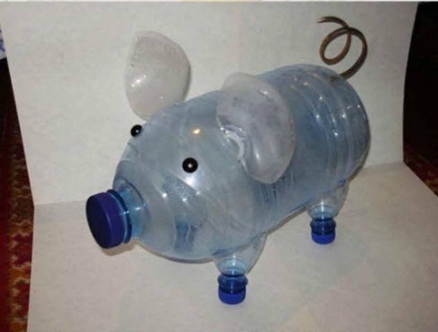 Как сделать поросёнка из 5 литровой бутылки