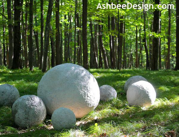 Декоративные шары из цемента для сада. Идеи и мастер-класс (23) (600x461, 146Kb)