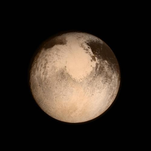 Некоторые специалисты НАСА рассматривают фото Плутона перевернутым на 180 градусов. И видят вместо сердца что-то другое