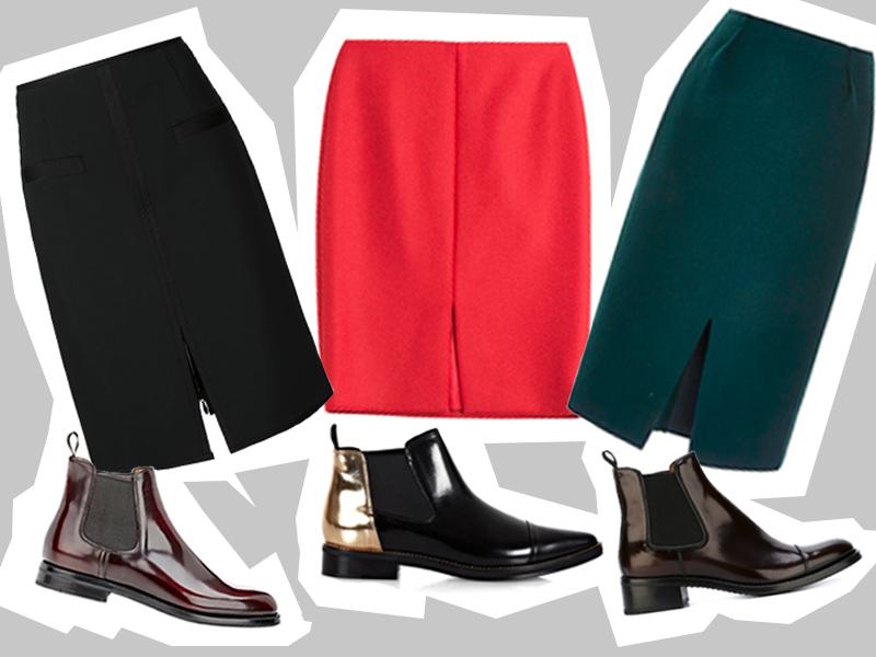 pencil skirt_ankle boots_s zalivkoj