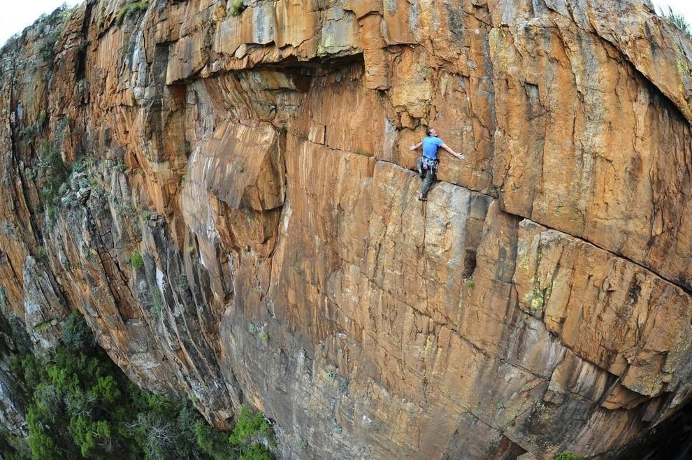 Британский альпинист Джон Робертс в ЮАР. дух, страшно, фотографии