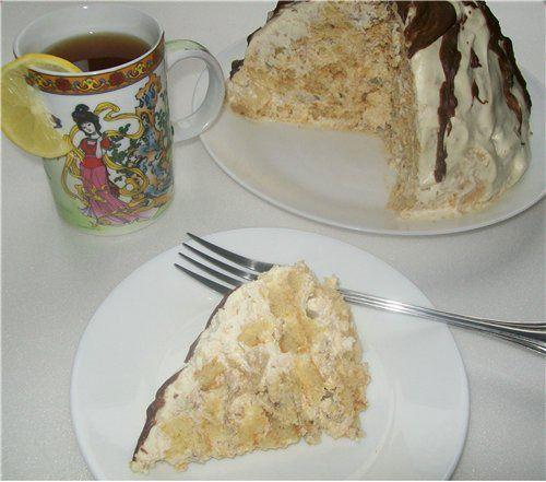 Ленивый торт панчо с пряниками