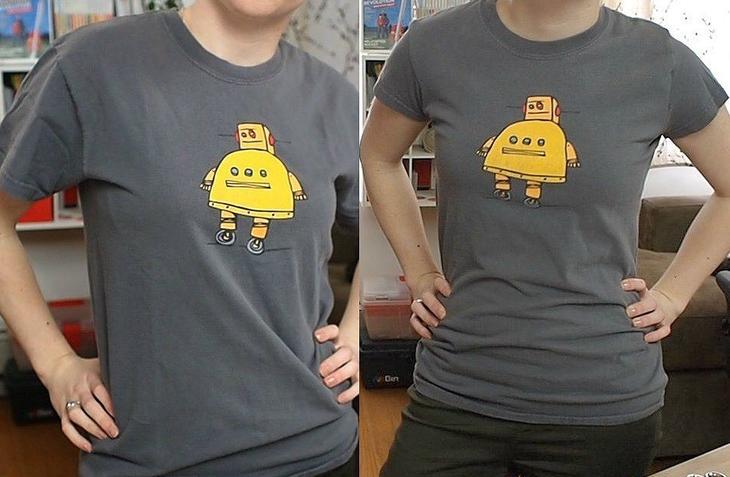 Как сделать из мужской футболки женскую — МК