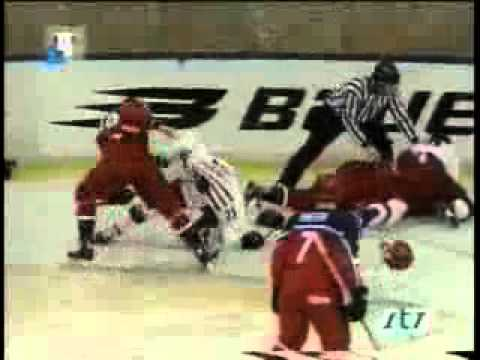 Легендарная драка СССР — Канада на МЧМ-1987 в Пьештянах Canada Vs Solviot Union ice hockey brawl