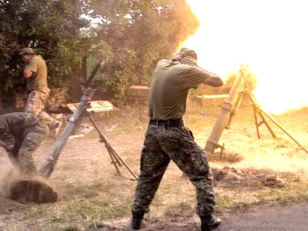 Донецкие минометчики очень точно накрыли позиции украинских морпехов под Мариуполем