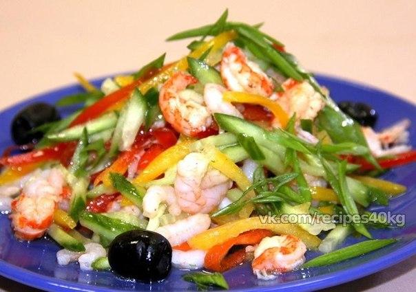 Вкусные рецепты салатов с креветками фото