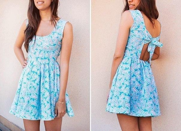 Простые платья на лето