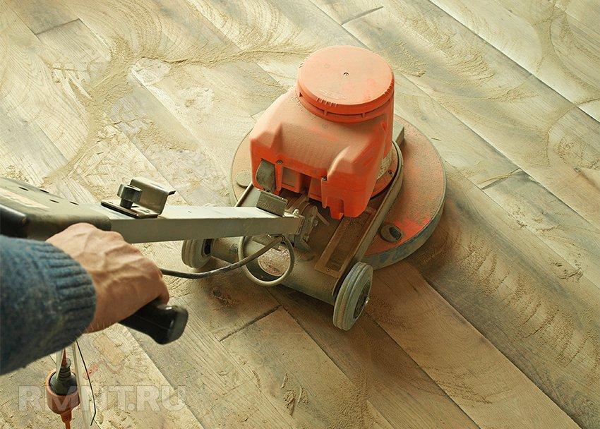 Отшлифовать полы деревянные своими руками
